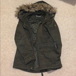 Guess olive winter coat